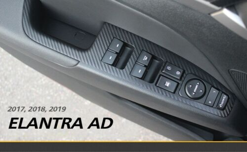 AD Window Switch Skinny 3D Carbon Black for HYUNDAI 2017 2018 ELANTRA