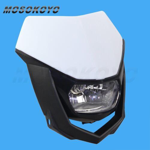 Street Fighter Motorcycle Dirt Bike MX Universal Headlight Headlamp Fairing New
