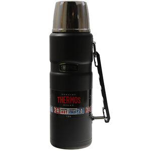Thermos 1.2 LITRI Nero ermetici acciaio inox Viaggi All'Aperto Pallone KING NUOVI  </span>