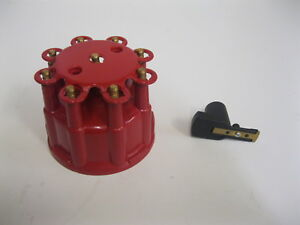 RED Ready To Run Pro Billet FEMALE Replacement Small Distributor Cap and Rotor