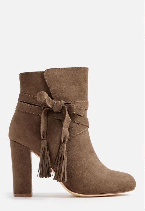 Just Fab Landry Olive Ankle Boots LN089 KK 06
