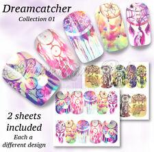 Dreamcatcher calcomanías de uñas de Agua Uñas Festival envuelve Pegatinas dreamcatchers A1319