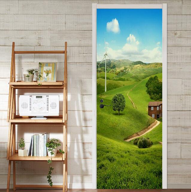 3D Grasland Haus 9 Tür Wandmalerei Wandaufkleber Aufkleber AJ WALLPAPER DE Kyra | Charmantes Design  | Spielen Sie Leidenschaft, spielen Sie die Ernte, spielen Sie die Welt  | Moderne und stilvolle Mode