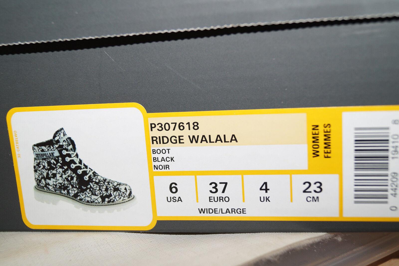 Caterpillar Ridge Walala UK.4 Womans Damen Schnürboots EU.37 UK.4 Walala schwarz weiss ccab37