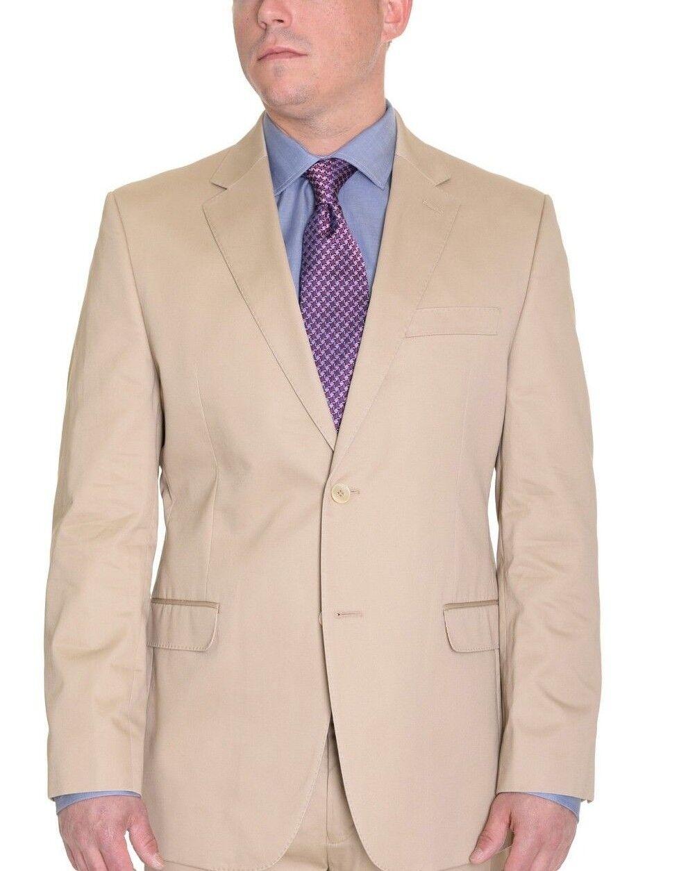 Ralph Lauren Tan Light Braun Slim Cotton Summer Two Button Blazer Sportcoat 44S