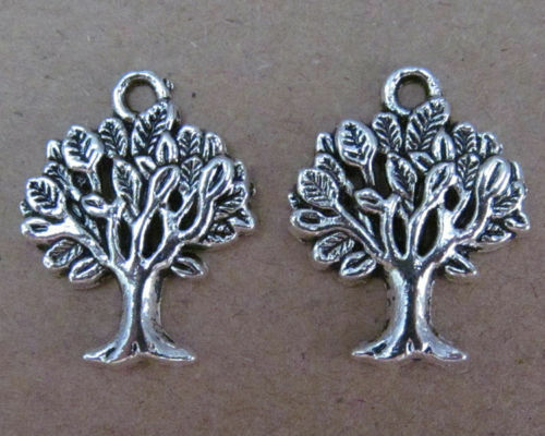 20pc retro Tibet silver trees sway Charm Beads accessories PL017