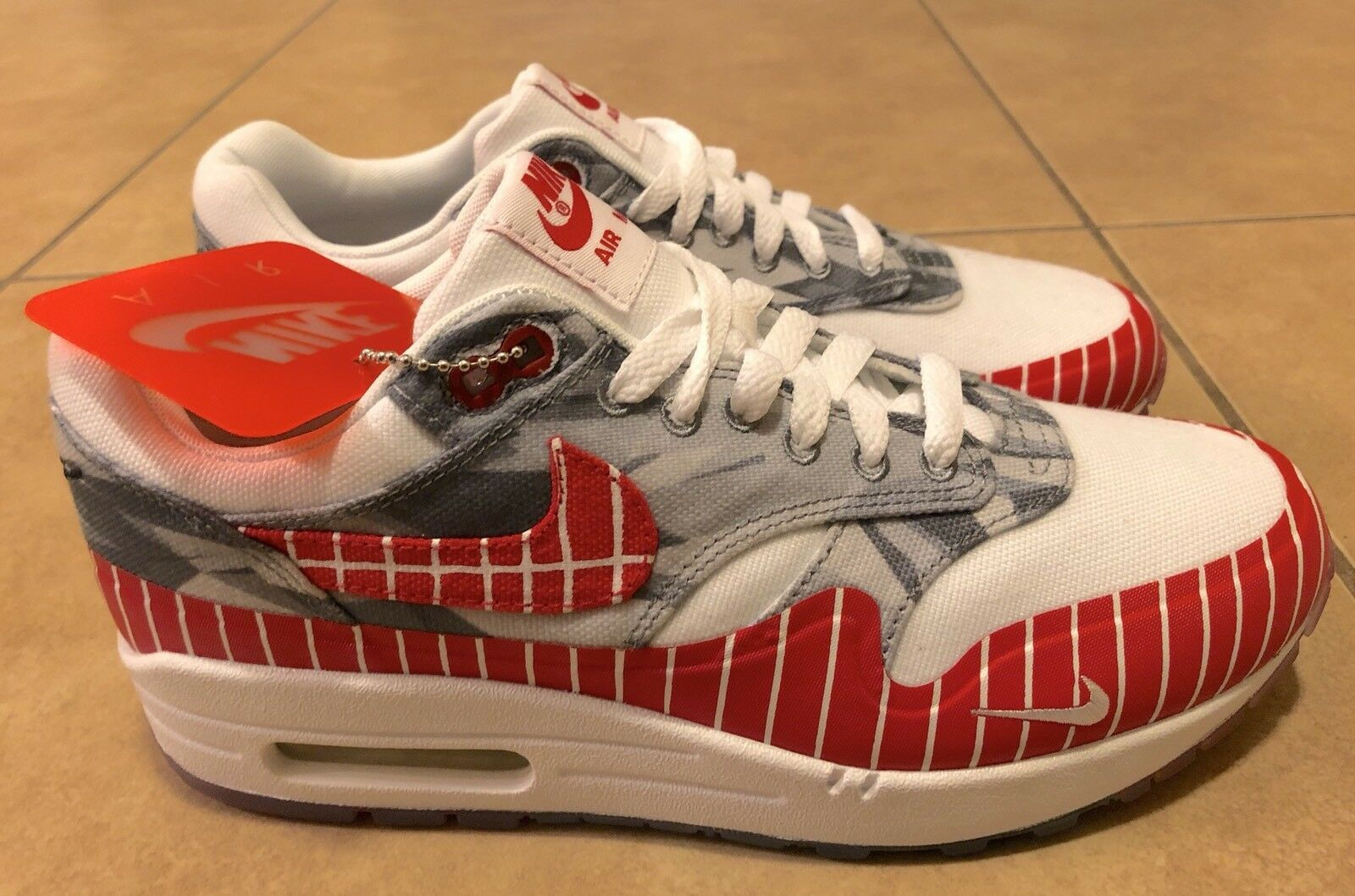 Nike Air Max 1 LHM White University Red Los Primeros AH7740-100 Men's Comfortable Seasonal price cuts, discount benefits Seasonal price cuts, discount benefits