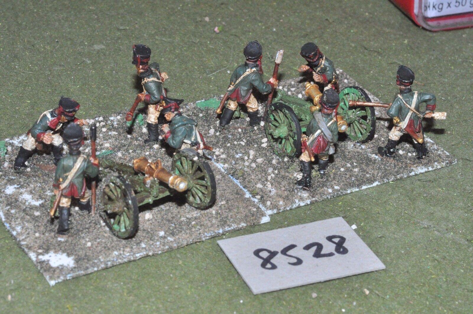 25mm russian artillery 2 guns & crews (8528) metal painted