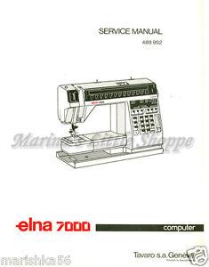 Elna 5000/ club * service/ repair manual & parts book (machine.