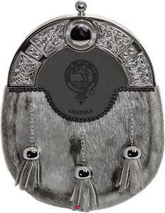 Adroit Chattan Dress Sporran à 3 Pompons Cloutée Celtique Arc Clan écossais Crest-afficher Le Titre D'origine Une Offre Abondante Et Une Livraison Rapide
