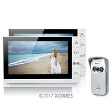 "9"" Video Door Phone Intercom Doorbell Security 1 Camera 2 Monitors Night Vision"