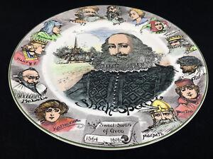 1 Assiette Royal Doulton Shakespeare's Portrait Shakespeare D6303 Personnages