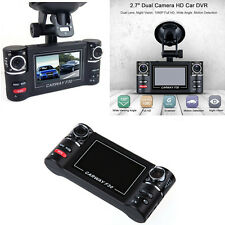 "2.7"" Dual Lens 1080P Full HD Car DVR Camera Video Recorder Dash Cam Night Vision"