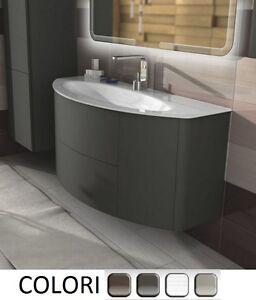 Mobile bagno da 90 120cm arredo moderno sospeso lavabo cristallo ...