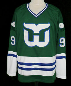 lower price with f63e0 5df63 Details about GORDIE HOWE WHALERS RETRO HOCKEY JERSEY SEWN NEW ANY SIZE