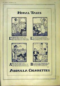 Original-Old-Vintage-Print-Morl-Tales-Abdulla-Cigarettes-Advert-1918-20th