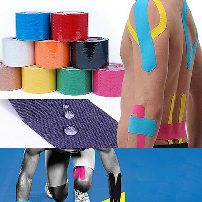 5m x 5cm Sports Bandage Tape Kinesio Roll Cotton Elastic Muscles Care Strap