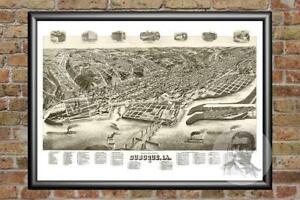 Old-Map-of-Dubuque-IA-from-1889-Vintage-Iowa-Art-Historic-Decor