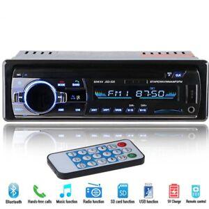1-DIN-12V-Estereo-Coche-MP3-Reproductor-Bluetooth-FM-Radio-SD-USB-AUX-Receptor