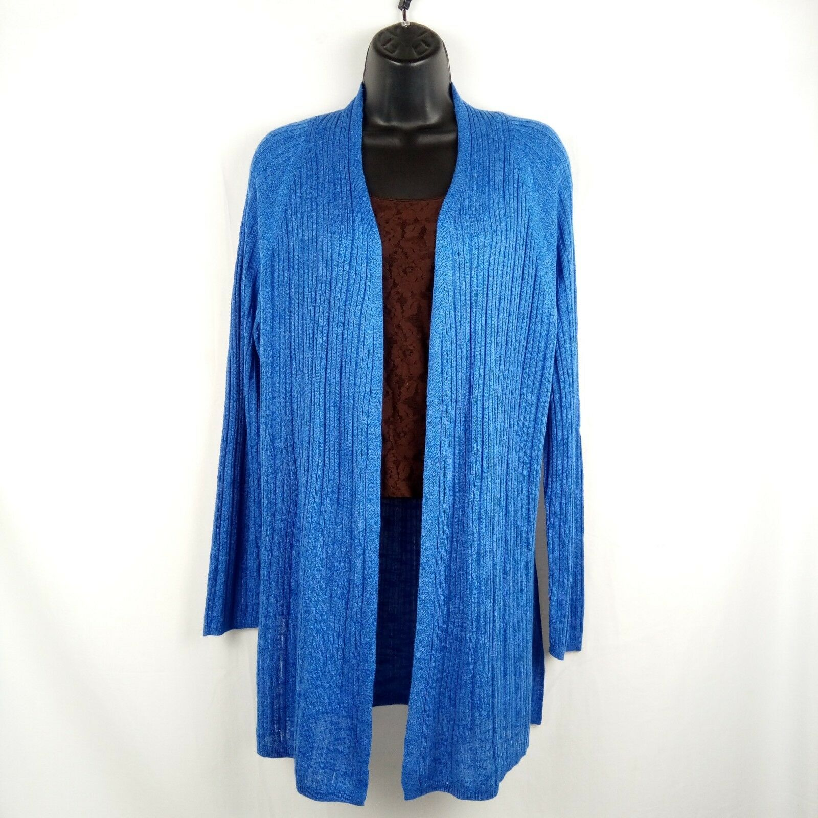 Verve Ami Cardigan Women Size M bluee Ivy Open Front