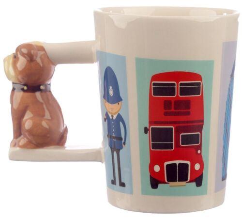 NOVELTY 3D BRITISH BULLDOG HANDLE DESIGN COFFEE MUG TEA CUP NEW IN GIFT BOX