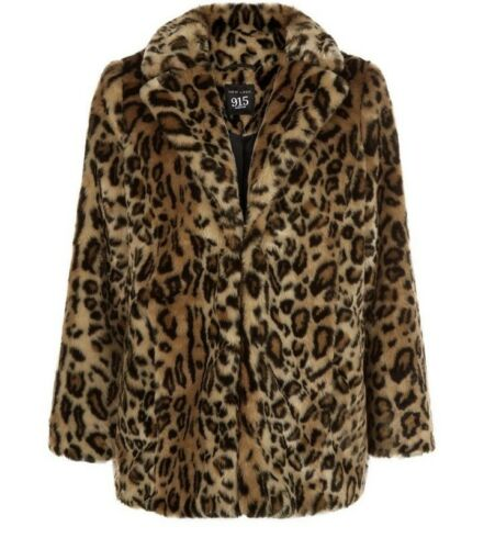 Leopard 11 Look 10 Fur Size Coat New Print Thick Faux Years Jacket wqvIIx6