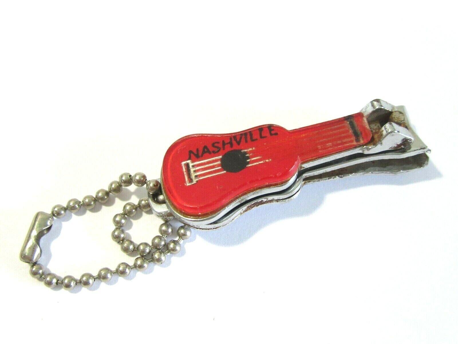 vintage keychain vintage collectibles guitar keychain keychain collection, Guitar nail clipper keychain