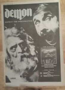Demon-Expect-the-unexpected-1982-press-advert-Full-page-27-x-38-cm-mini-poster
