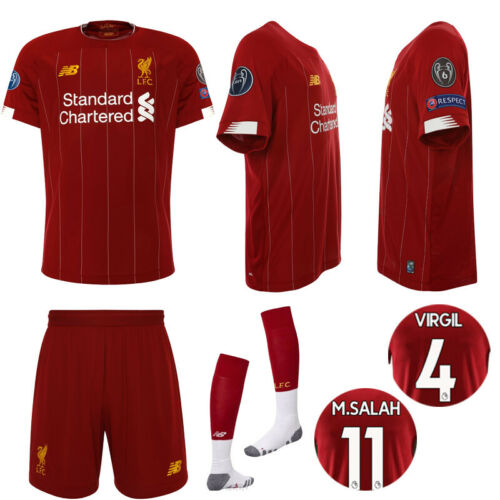 19//20 Liverpool Football Kit Soccer Suits Jerseys For Kids 3-14Yrs Adult Outfits