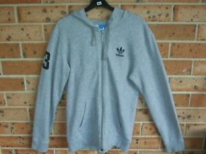 Details about Small Mens ADIDAS Hooded top Hoodie Grey Clean Great Condition Poly Cotton