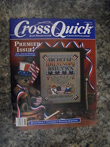 CROSS-QUICK-EASY-PROJECTS-4-CROSS-STITCH-LOVERS-MAGAZINE-USA-BEARS-THEME-AS-NEW