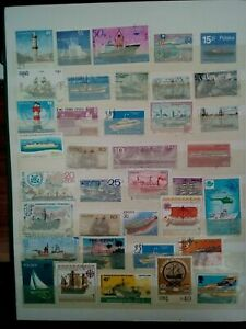 Navires-TIMBRES-SELLOS-Stamps-Timbres
