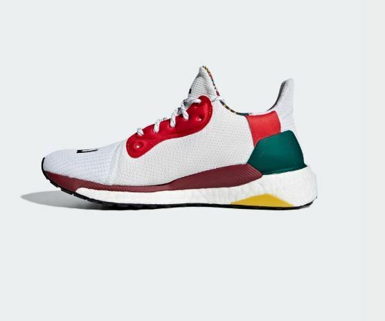 Adidas Pharrell Williams Solar Hu Glide Red Red Red Wht Black Womens Size 8.5 US CG6776 5d7901