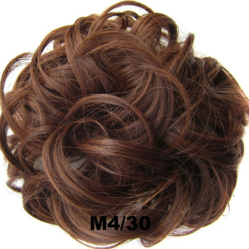 Women Lady Curly Wave Hair Bun Clip Comb In Hair Extension Chignon Hairpiece Wig