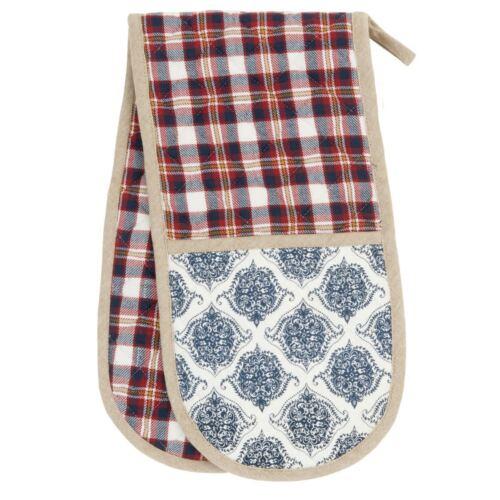 Double gant de cuisine four gant Scotch bleu rouge à carreaux Maison de Campagne Cottage