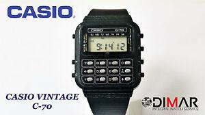 CASIO-VINTAGE-C-70-CALCOLATRICE-QW-133-JAPAN-ANNO-1980