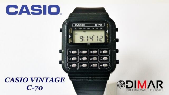 CASIO VINTAGE C-70 CALCOLATRICE QW.133 JAPAN ANNO 1980