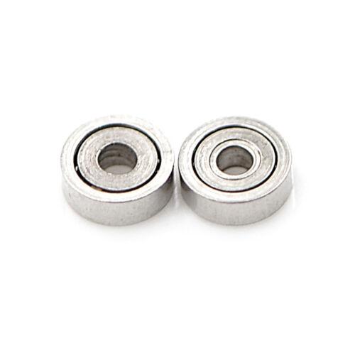 10pcs 681ZZ Miniature Mini Ball Bearings Metal Open Micro Bearing 1x3x1mm BRCXUI