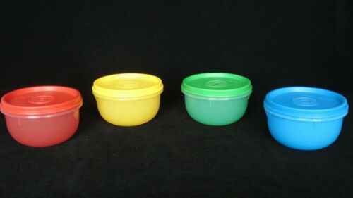 FREE SHIP Tupperware Ideal Lit/'l Bowls Set 4 Lunch Snacks Prep Kids travel NEW