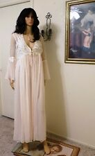 JONQUIL by DIANE SAMANDI CASSANDRA BRIDAL Peignoir Set Soft Pink size L large