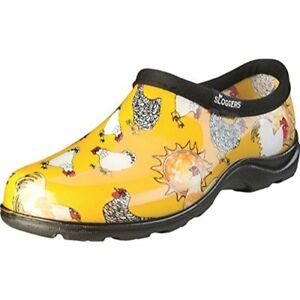 Sloggers-Chick<wbr/>en Print Collection Women's Rain & Garden SSize 6, Daffodil Yellow