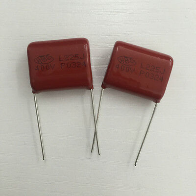 10PCS CBB21 225J 630V 2.2UF 2200NF P26 Metallized Film Capacitor