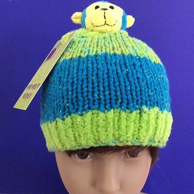 Self-Conscious Hand Knitted Fun And Colourful Beanie To Fit Age 1-2 Years Old Boys & Girls A Complete Range Of Specifications Kids' Clothing, Shoes & Accs Boys' Accessories