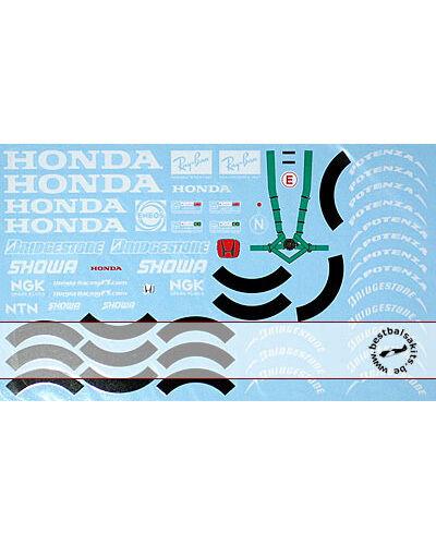 1//18 HONDA /& WHEEL SPONSOR DECAL RA106 for PMA