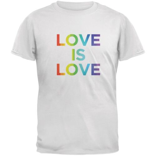 LGBT Gay Pride Love Is Love White Adult T-Shirt