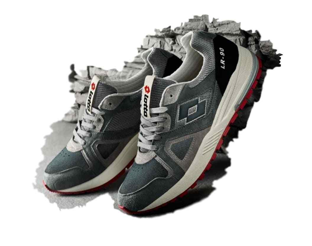 Shoes Lotto Icon carob brown grey ceuomot suede T2159 Scarpe classiche da uomo