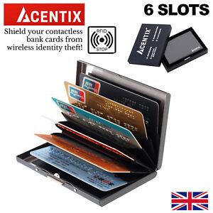 RFID blocking Wallet Slim Anti-Scanner sans contact métal carte de crédit ID titulaire Mini