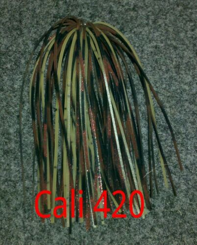 Lures 6 pack of Cali 420 A.C.T Hand Tied custom bass tackle jig Punch skirts