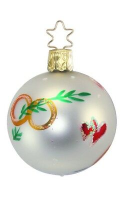 Inge Glas Wedding Blushing Bride 1-279-01 German Glass Christmas Ornament