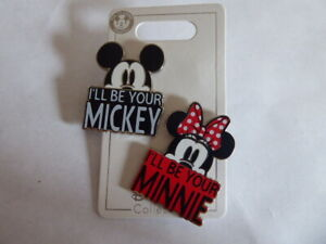 Disney-Trading-Pins-I-ll-be-your-Mickey-I-039-ll-Be-Your-Minnie-2-Pin-Set